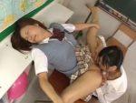 【クンニレズ動画】新体操部に所属する軟体少女の女子校生を女教師がレズレイプでクンニ責め