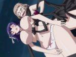 【アニメレズ動画】母乳が出る巨乳娘がビアンのバリタチ女王様に授乳プレイで犯される
